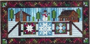 click here to view larger image of Airing the Winter Quilts (counted canvas chart)