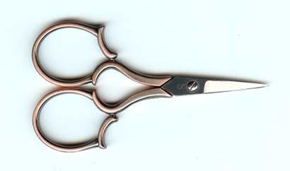 click here to view larger image of 4 inch Copper Leaf Handle Embroidery Scissor (accessory)
