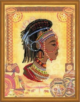 click here to view larger image of African Princess (stamped cross stitch kit)