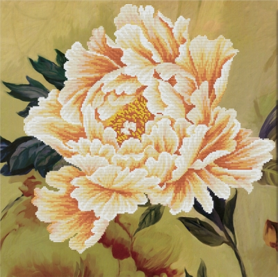 click here to view larger image of Blooming Peony 2 - No Count Cross Stitch (stamped cross stitch kit)