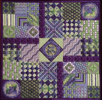 click here to view larger image of Amethyst Garden (counted canvas chart)