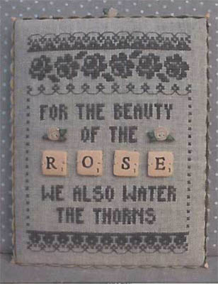 click here to view larger image of Rose - Scrabble 3 (w/buttons) (chart)