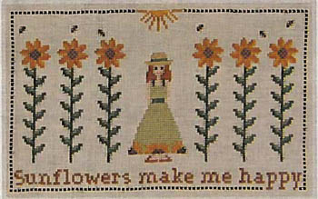 click here to view larger image of Sunflowers Make Me Happy (chart)