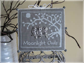 click here to view larger image of Moonlight Owls (w/button) (chart)
