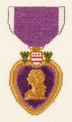click here to view larger image of Purple Heart (counted cross stitch kit)