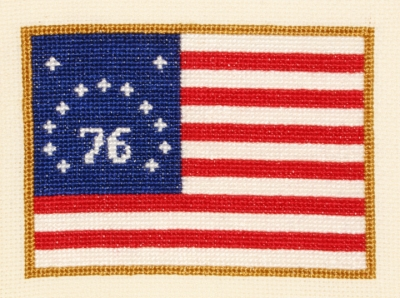 click here to view larger image of Bennington Flag (counted cross stitch kit)