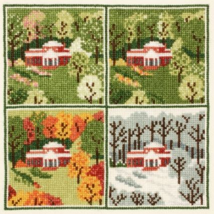click here to view larger image of Monticello Four Seasons (counted cross stitch kit)