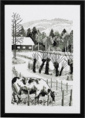 click here to view larger image of Old Farm, The (counted cross stitch kit)