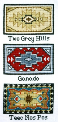 click here to view larger image of Navajo Rug Designs (counted cross stitch kit)