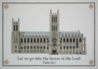 click here to view larger image of Washington National Cathedral (counted cross stitch kit)