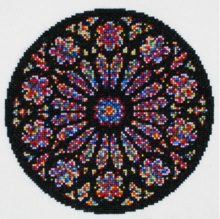 click here to view larger image of Creation Rose Window (counted cross stitch kit)