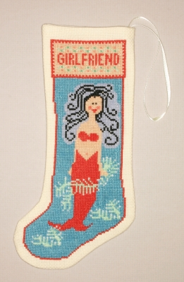 click here to view larger image of Kedron Girlfriend Stocking Ornament (counted cross stitch kit)