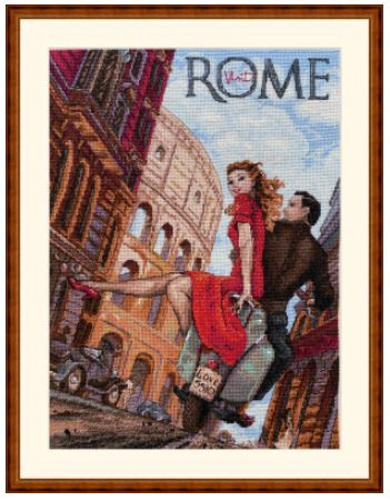 click here to view larger image of Visit Rome (counted cross stitch kit)