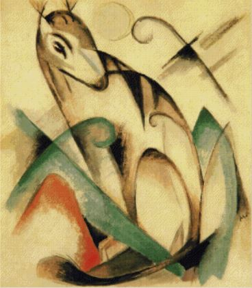 click here to view larger image of Seated Mythical Animal 1913 - Franz Marc (chart)