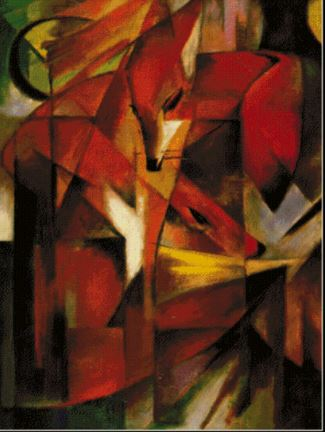 click here to view larger image of Foxes - Franz Marc (chart)