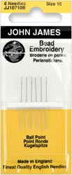 click here to view larger image of John James - Beading Needles Size 10 (needles)