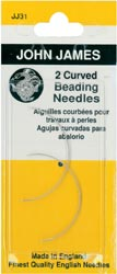click here to view larger image of John James - Curved Beading Needles  (needles)