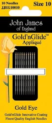 click here to view larger image of John James - Gold n Glide Applique Needles (needles)
